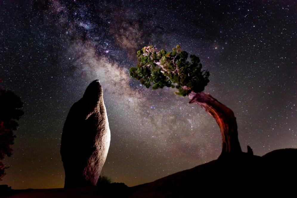 Joshua Tree National Park and the Milky Way. Tweeted by the US Department of the Interior, 7/8/15.