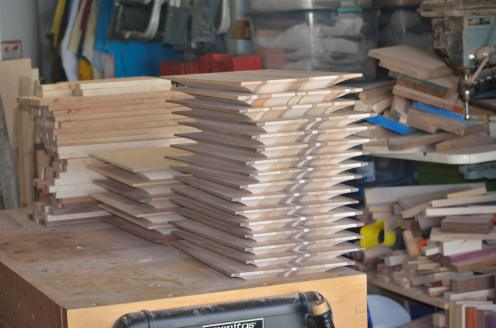 """When the top of the board is only 1/4"""" thick, the cove cuts are done."""