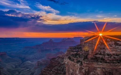 Sunset, as seen from Cape Royal over the Grand Canyon National Park. Photo by Brent Johnson. Tweeted by the US Department of the Interior, 7/22/15.