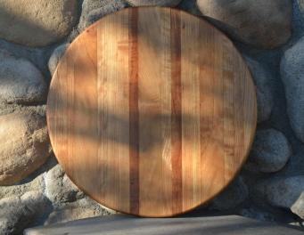 """Lazy Susan 15 - 014. Cherry ... in many colors. 17"""" diameter."""