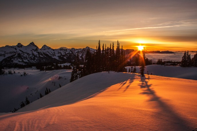 Mount Rainier National Park in Washington has some of the most breathtaking views in the Pacific Northwest. Photo by Erynn Allen. Posted on Tumblr by the US Department of the Interior, 12/15/15.
