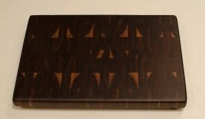 """Small Board 16 - 007. Black Walnut. End Grain. 9"""" x 13"""" x 15/16""""."""