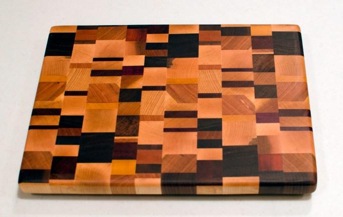"""Small Board 16 - 008. End grain. 10"""" x 13"""" x 1""""."""