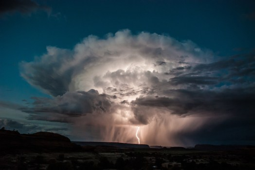 Mother Nature shows her power with this dramatic lightning storm over the Needles District at Canyonlands National Park in Utah. Photo from last summer courtesy of Claudia Castillo. Posted on Tumblr by the US Department of the Interior, 3/21/16.
