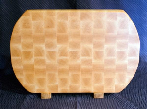 """Cutting Board 16 - End 029. End Grain. 2-sided. Hard Maple. 13"""" x 18"""" x 1-1/2""""."""