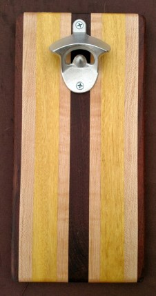Magic Bottle Opener 16 - 035. Black Walnut, Hard Maple & Yellowheart.
