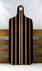 """Bread Board 16 - 01. Padauk, Yellowheart & Hard Maple. 8"""" x 20"""" x 7/8""""."""