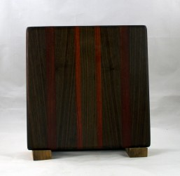 "Small Board 16 - 022. Black Walnut & Bloodwood. 10"" x 10"" x 7/8""."