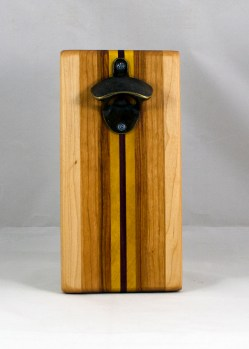 Magic Bottle Opener 16 - 128. Hard Maple, Cherry, Canarywood, Yellowheart & Padauk. Single Magic.