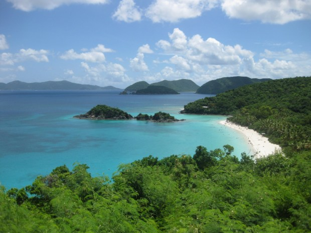 Virgin Islands National Park's hills, valleys and beaches are breathtaking. Beyond its tropical beauty, 7,000 acres on the island of St. John help tell the complex history of civilizations - both free and enslaved - who utilized the land and the sea for more than a thousand years. Photo of Trunk Bay by Kaitlin Kovacs, U.S. Geological Survey. Posted on Tumblr by the US Department of the Interior, 8/29/16.