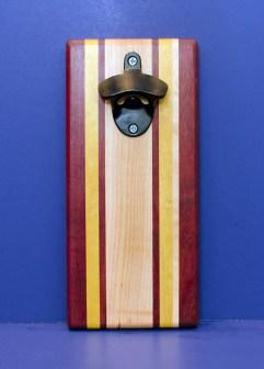 Magic Bottle Opener 16 - 169. Purpleheart, Yellowheart & Hard Maple. Double Magic.