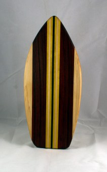 Medium Surfboard 16 - 09. Hard Maple, Jatoba, Yellowheart & Black Walnut.