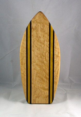 Medium Surfboard 16 - 13. Birdseye Maple, Jatoba & Yellowheart.