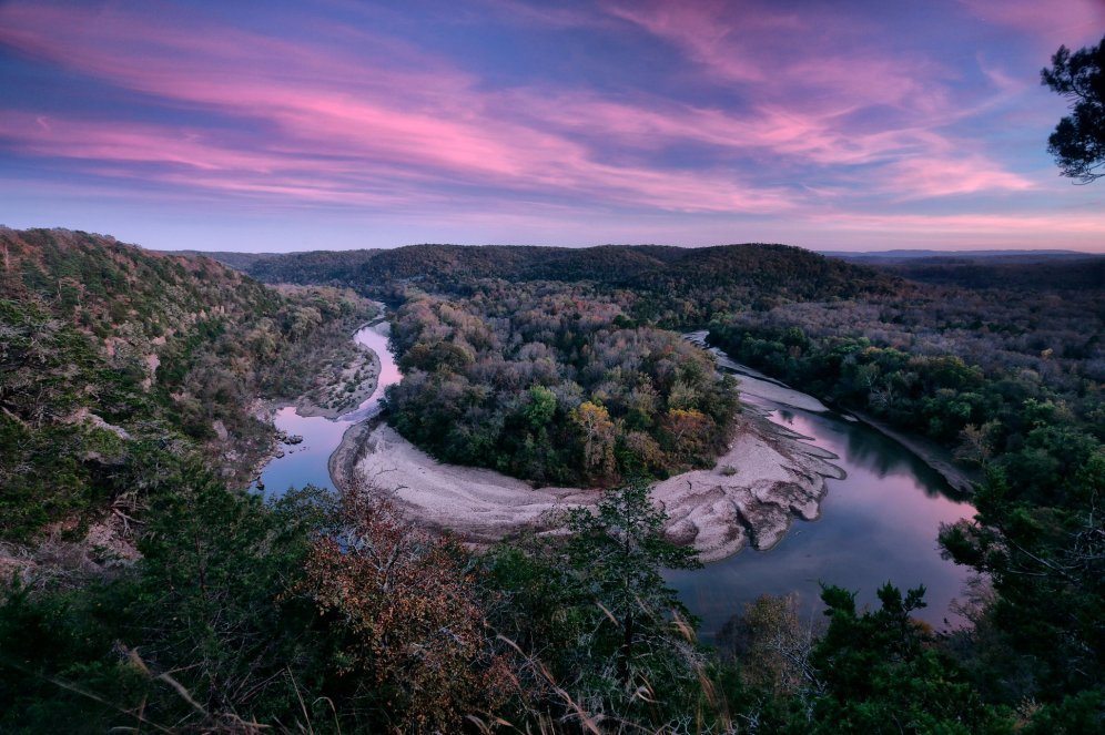Arkansas' Buffalo National River. Photo by William Rainey. Tweeted by the US Department of the Interior, 12/15/16.