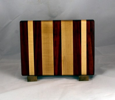 "Cheese Board 16 - 055. Padauk & Hard Maple. 7"" x 11"" x 7/8""."