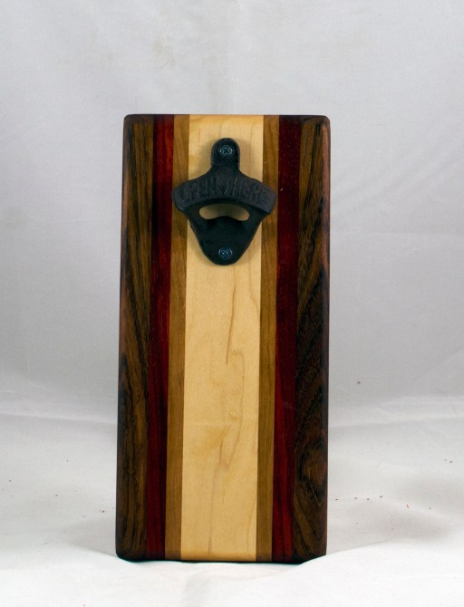 Magic Bottle Opener 17 - 609. Jatoba, Padauk, Cherry & Hard Maple. Single Magic.