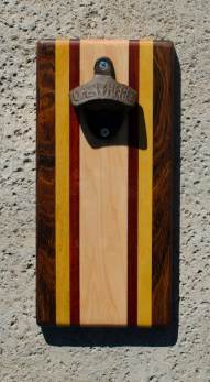 Magic Bottle Opener 17 - 613. Jatoba, Yellowheart, Padauk & Hard Maple. Double Magic.