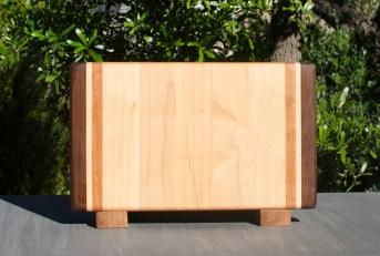 """Small Board 17 - 219. Black Walnut, Hard Maple & Cherry. 12"""" x 7"""" x 1-1/4""""."""