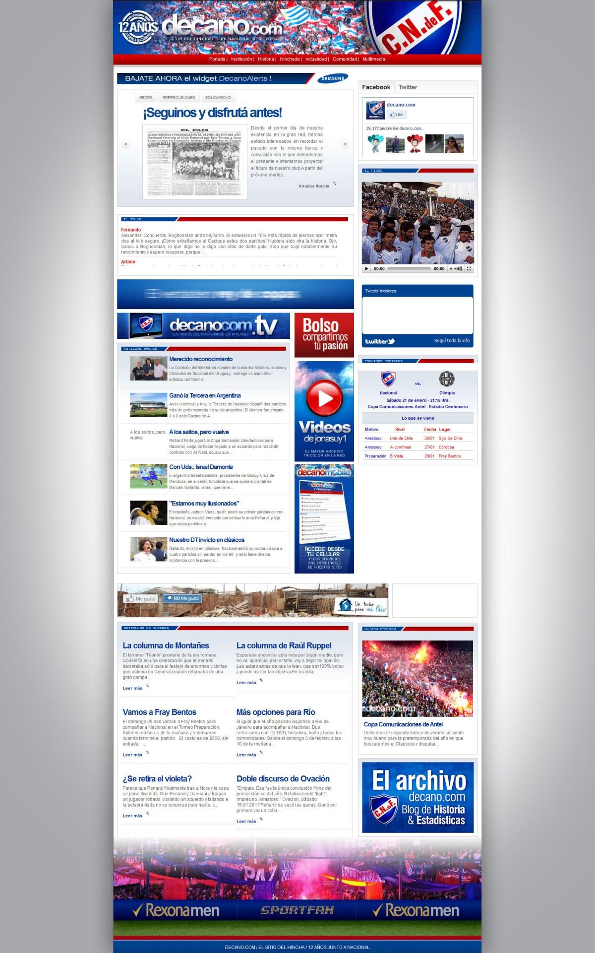 Decano.com Web Design