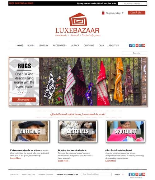 Luxe Bazaar Website