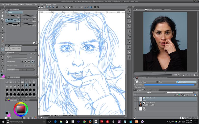 WIP – Sarah Silverman – Sketch