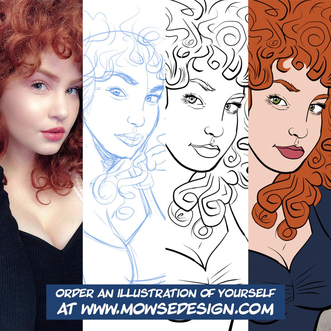 Selfie Illustration Process