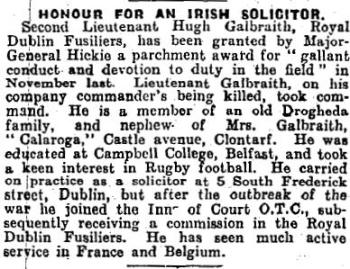 Galbraith 8 March 9 1918