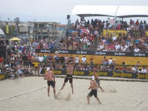 Kevin McColloch competing professionally in Semi Final match Hermosa Beach