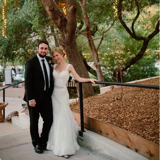 bride & groom at The 1909 Topanga Canyon, CA, Moxie Bright Events Los Angeles wedding planner