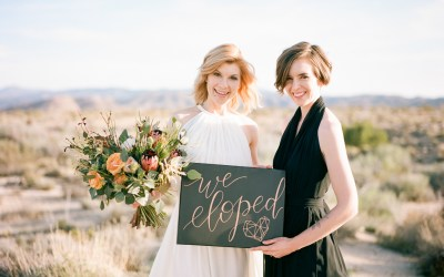 Modern Geometric Elopement Inspiration Shoot | Bridget & Kristi