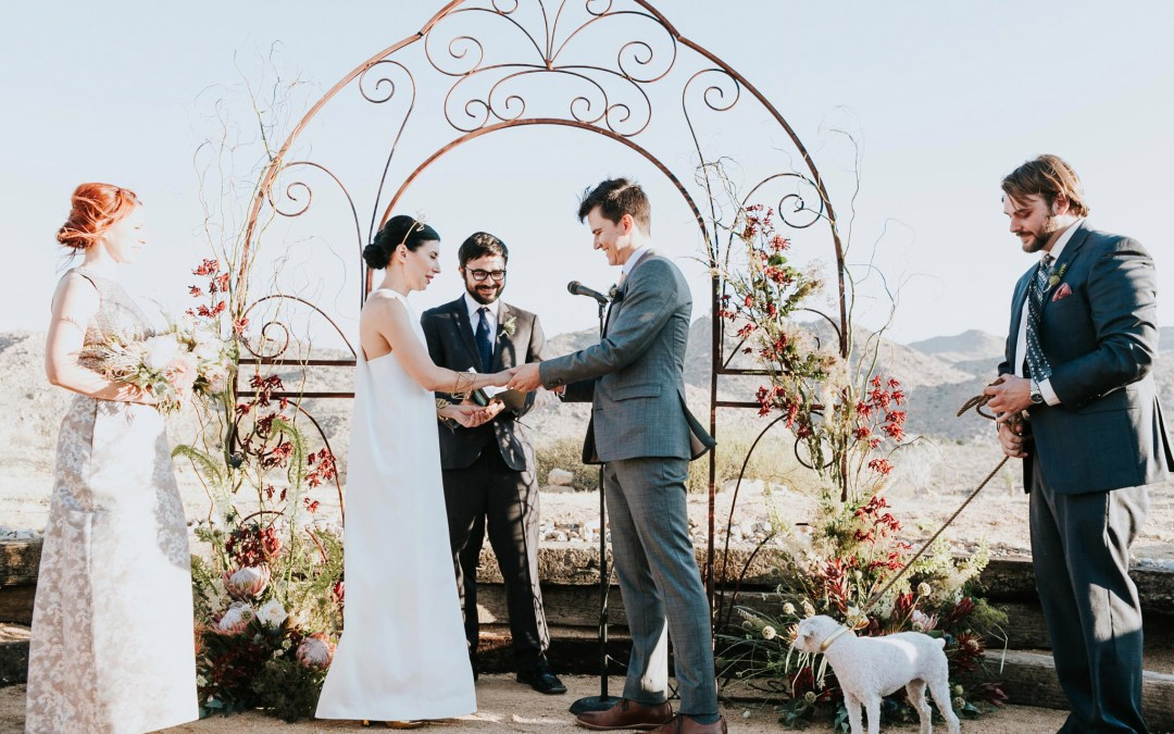Spellbinding High-Desert Sacred Sands Wedding | Kathy & Sanden