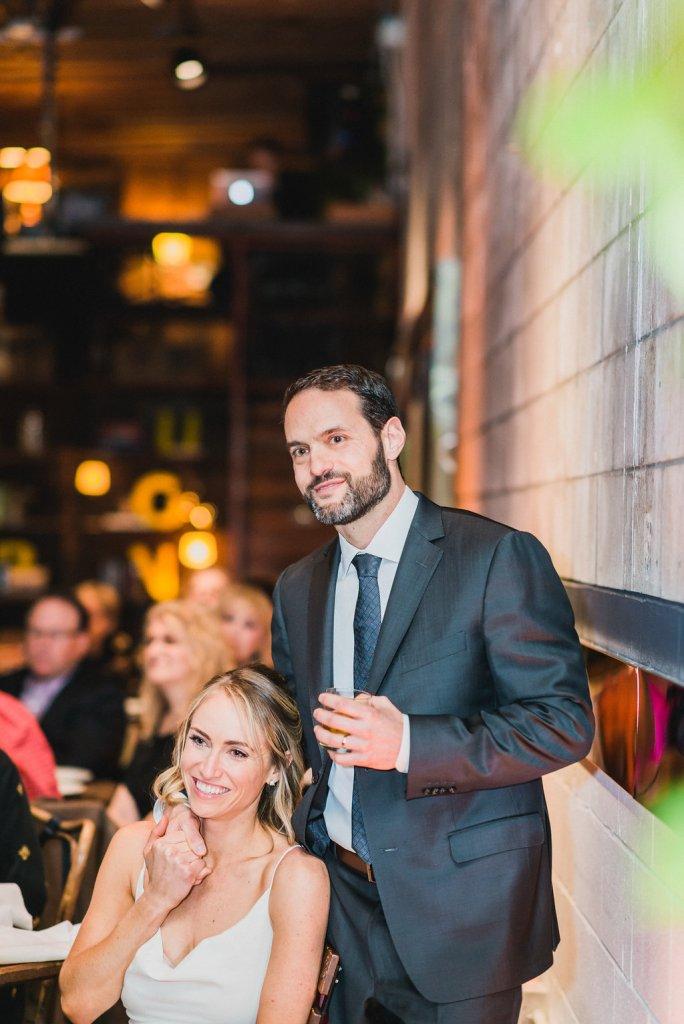 Smog Shoppe wedding, bride & groom at smog shoppe, moxie bright events