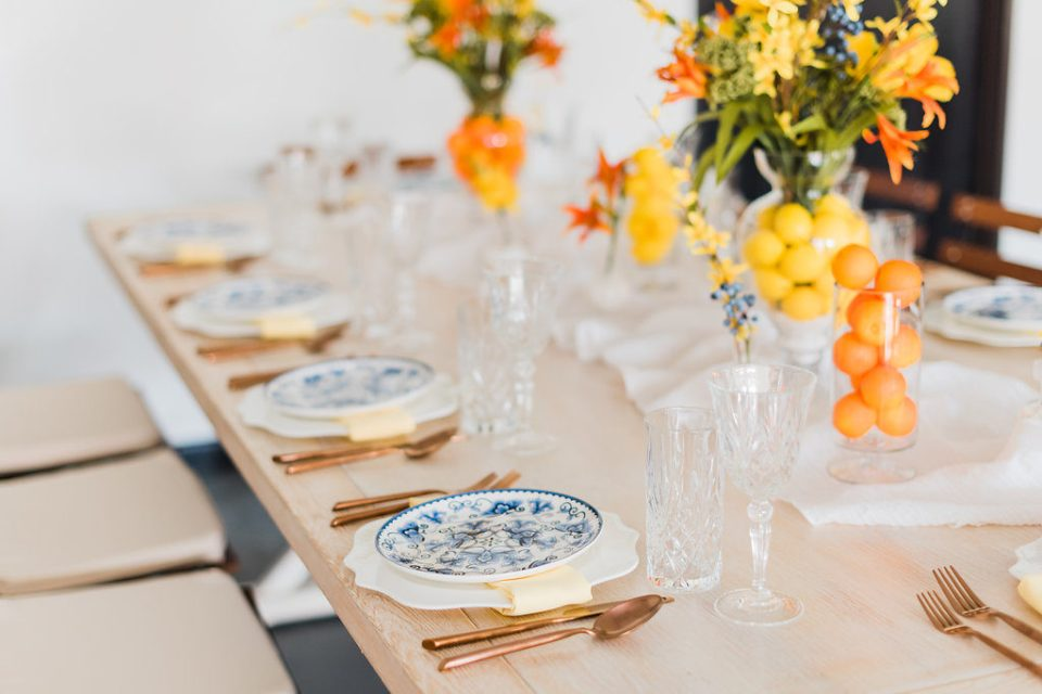 Summer in Italy wedding table design by Moxie Bright Events