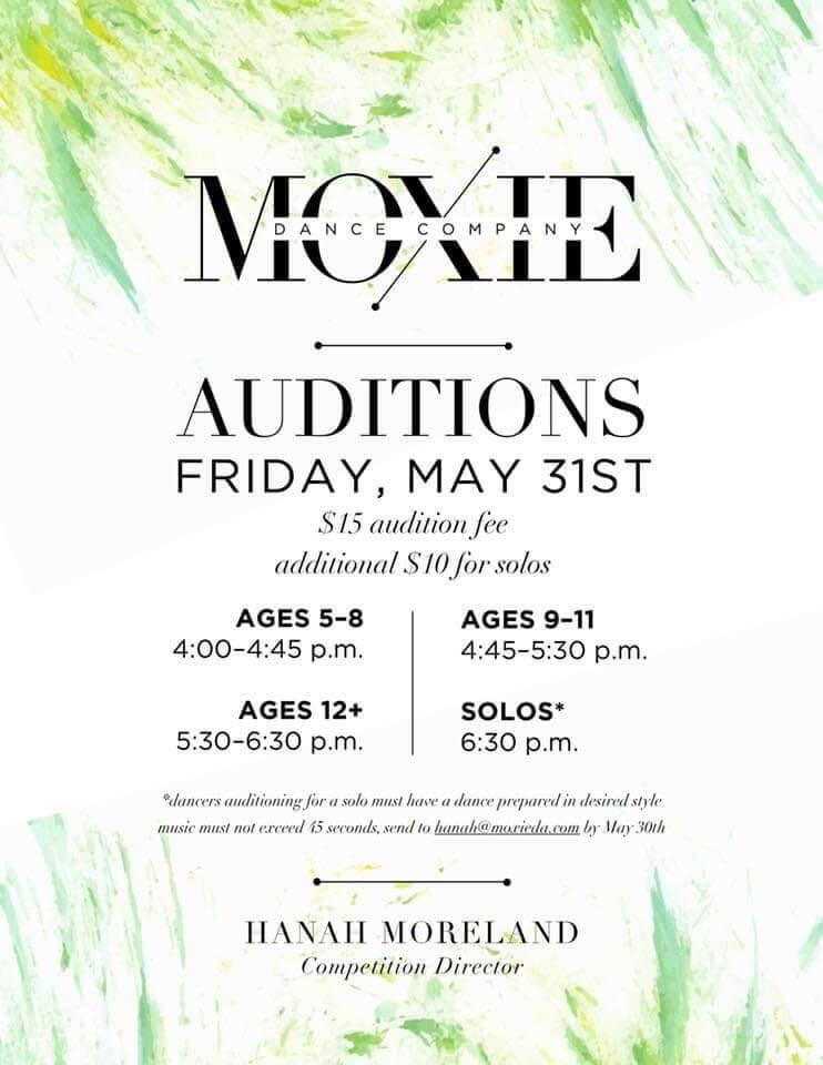 Company Auditions – Moxie Dance Academy