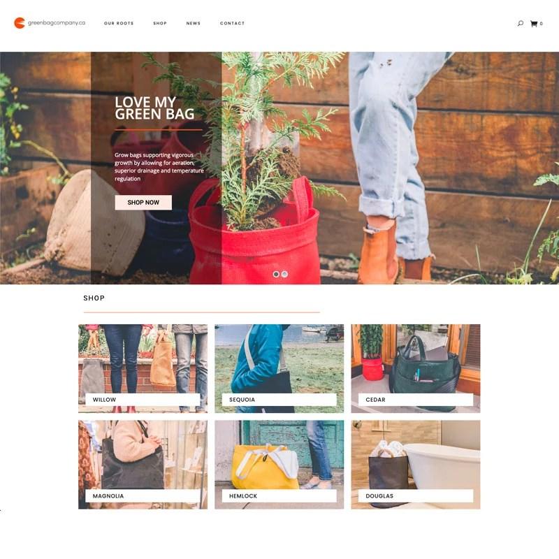 Green Bag Company Website Design and SEO