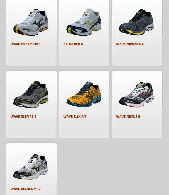 Zapatillas Mizuno: Catálogo 2012 fotos 3