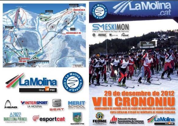 Esqui montaña: Campeonato España cronoescalada 2012. Crononiu La Molina