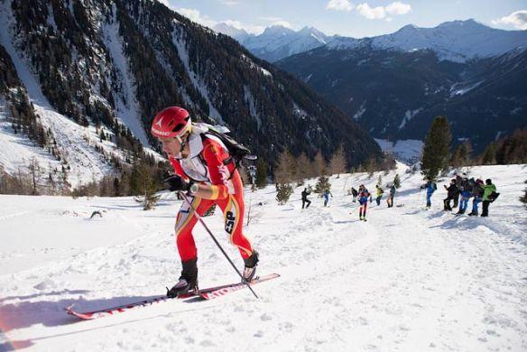 Kilian Jornet:  Ski montaña copa del Mundo Ahrntal 2013. 1º Cronoescalada. 3º Carrera individual.