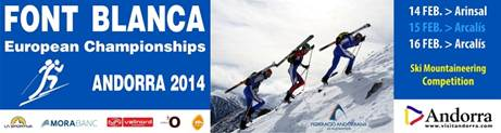 Esqui de montaña cartel campeonato Europa 2014 Andorra