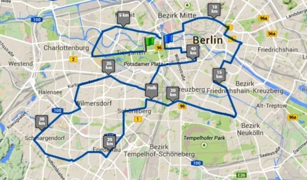 maraton berlin 2014 mapa de carrera