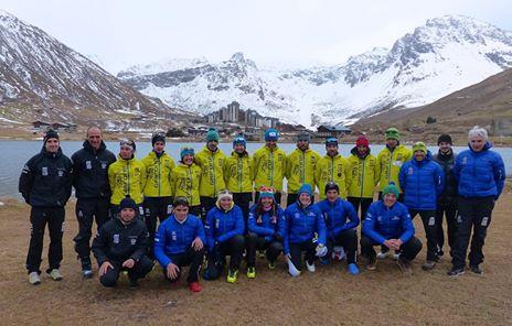 Foto equipo Skimo fedme tignes 2014. Foto: Fedme.