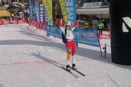Esqui de montaña: Campeonato españa sprint 2015 Claudia Galicia. Foto: FEDME