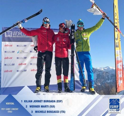 Kilian Jornet campeon copa del mundo skimo vertical en francia foto ismf.jpg