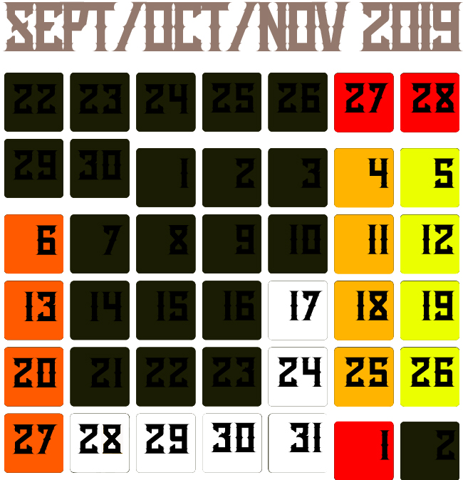 Haunted House Calendar