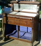 tiger oak antique buffet