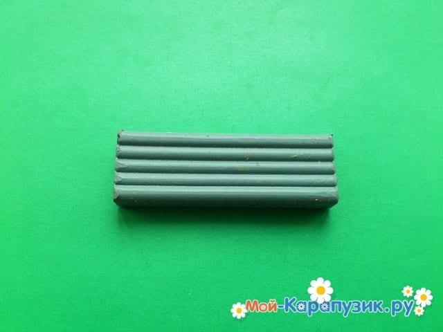 Пластилиннен қасқыр модельдеу - 1-сурет