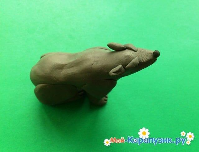 Қасқырдың пластилинді модельдеу - фото 11