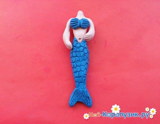 Лепка русалки из пластилина - фото 10