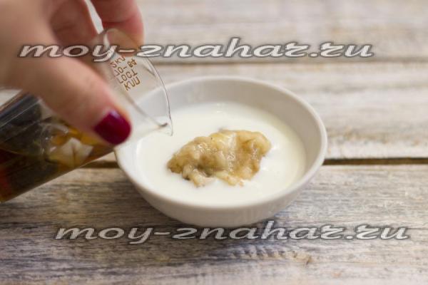 Маска для волос в домашних условиях из банана и кефира на ...