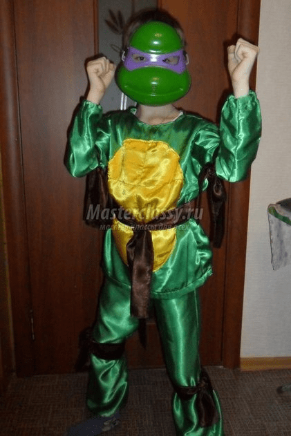 Costume na DIY Ninja Turtle